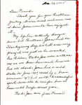 Page 1 Mrs. Boyd's Letter